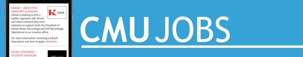 CMU Jobs | Complete Music Update