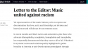 UK music reps sign anti-racism letter