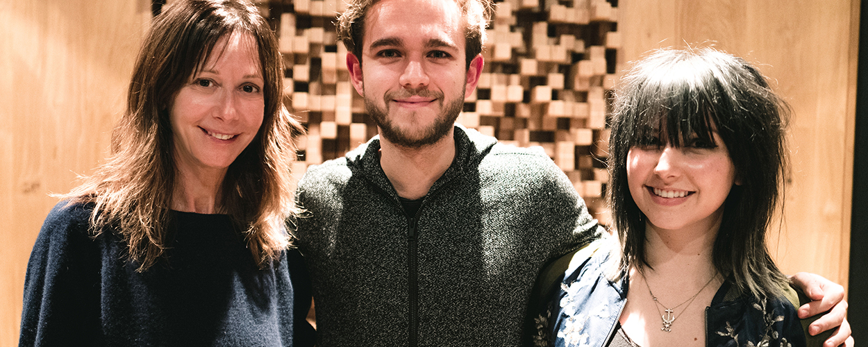 Jody Gerson, UMPG Chairman and CEO; Zedd; and Taylor Testa, UMPG Sr. Manager of Creative