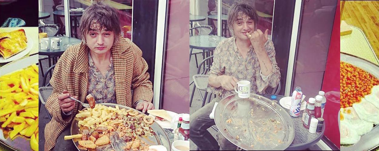 Pete Doherty's big breakfast