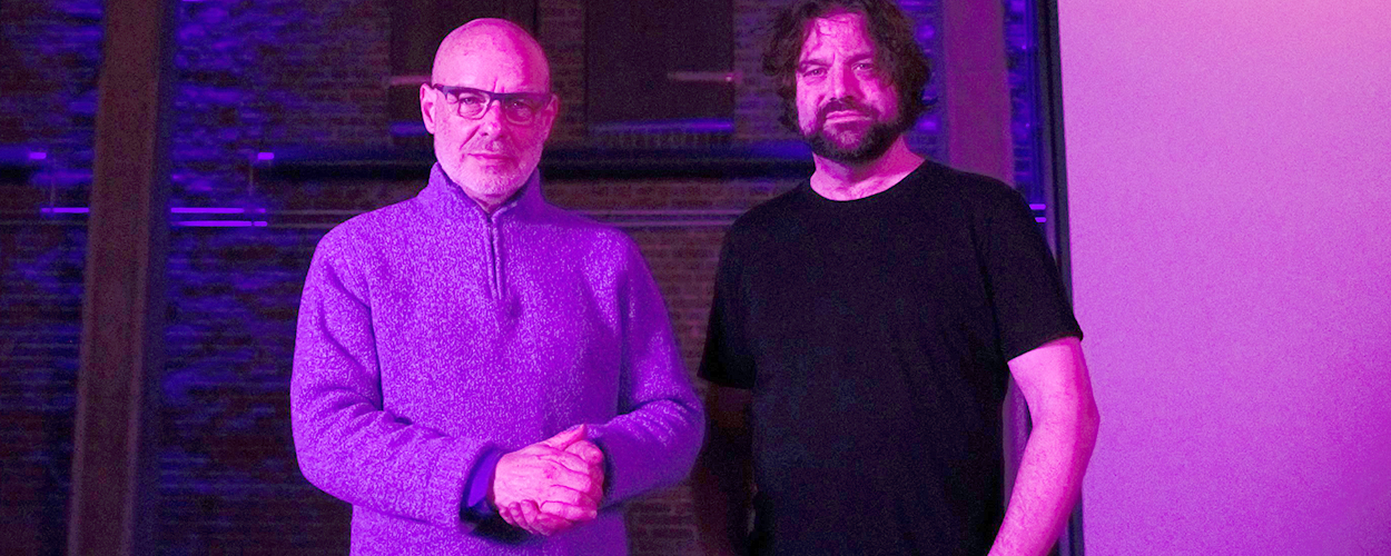 Brian Eno & Peter Chilvers (credit: Microsoft)