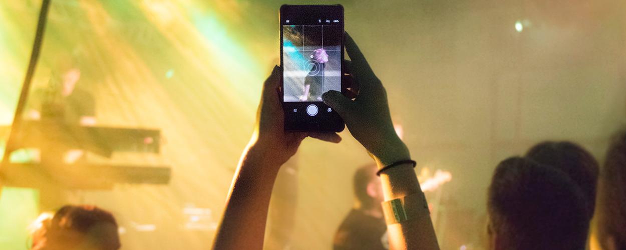 Phone at gig
