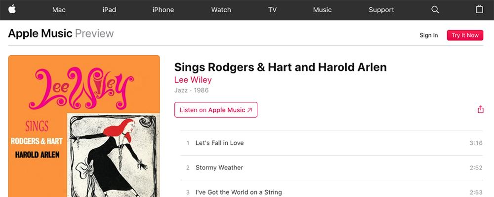 Harold Arlen iTunes
