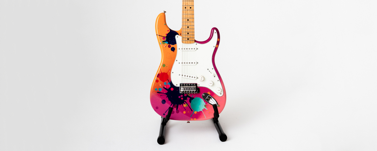 Goldie Splattocaster for The Big Issue