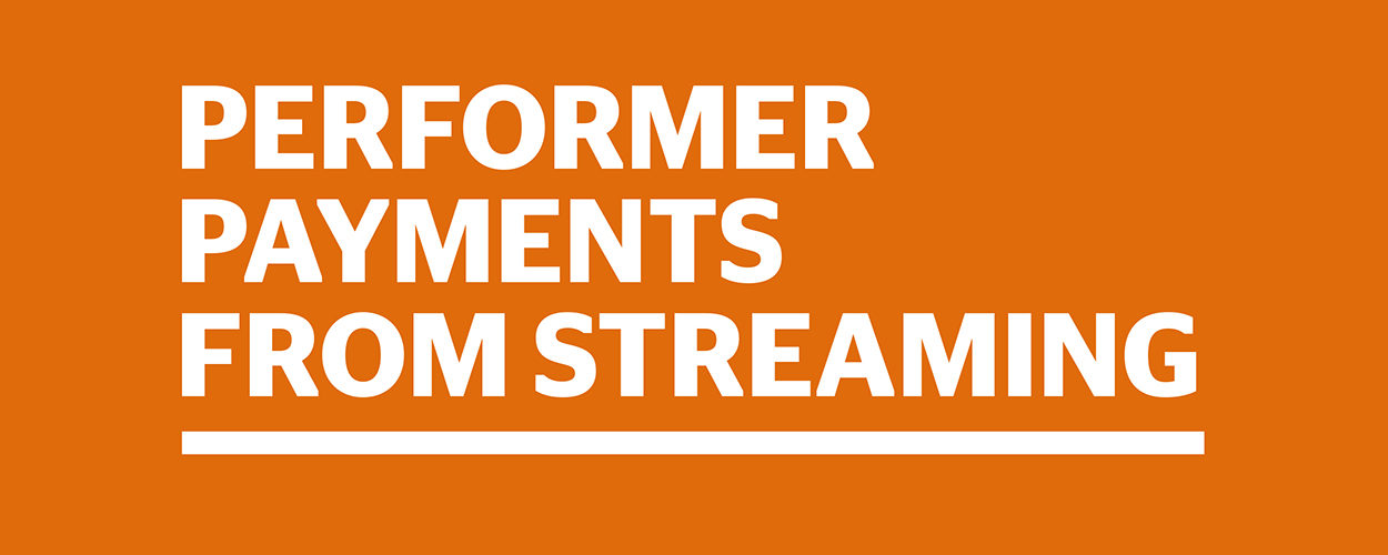 Performer Payments From Streaming